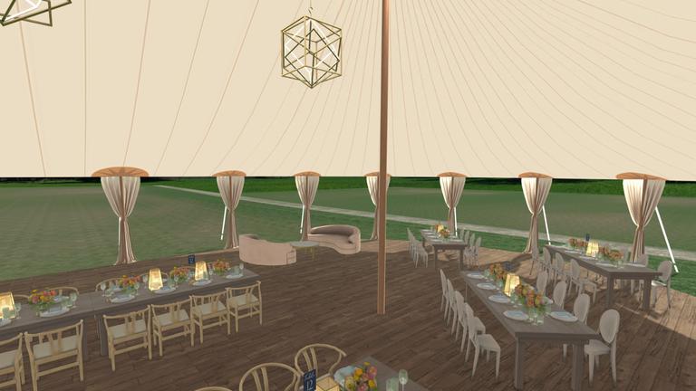 Merri 3D visual planning wedding tent outdoors
